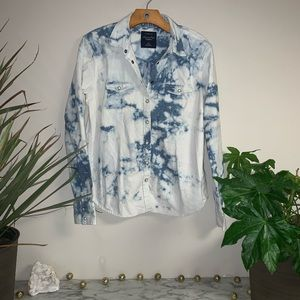 AEO Acid Style Denim Shirt